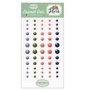 Enamel dots Flora no.2