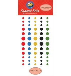 Enamel dots All Aboard