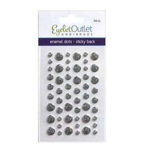 Enamel Dots Glitter Silver