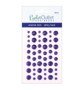 Enamel Dots Glitter Violet