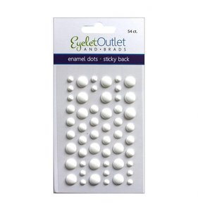Enamel Dots Blanco Mate