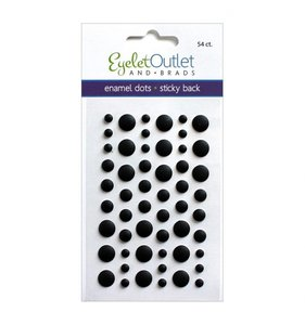 Enamel Dots Negro Mate