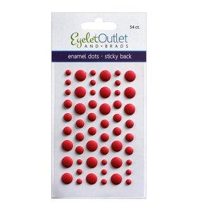 Enamel Dots Rojo Mate