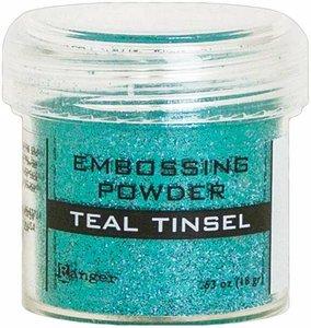 Polvos de embossing Ranger Teal Tinsel
