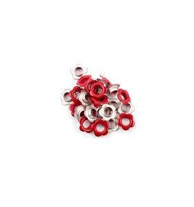 Eyelets 5 mm Red Flowers 25 pk