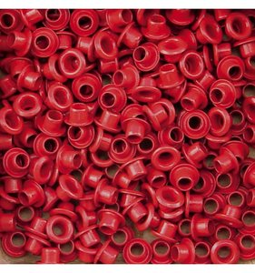 Eyelets 5 mm Red 25 pcs