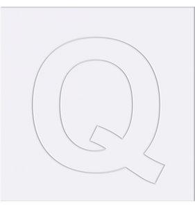 Paspartú para decorar Letra Q