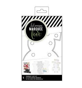 Marquee Love Kit Muñeco de Nieve