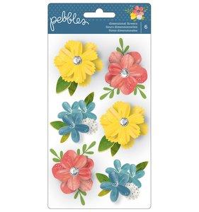 Flores adhesivas de cartulina 3D Homegrown