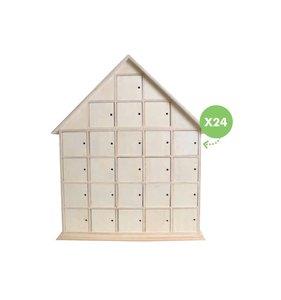 Calendario de Adviento Casa con puertas