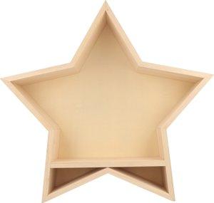 Forma de madera Repisa Estrella para decorar