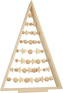 Árbol de Navidad de madera con adornos
