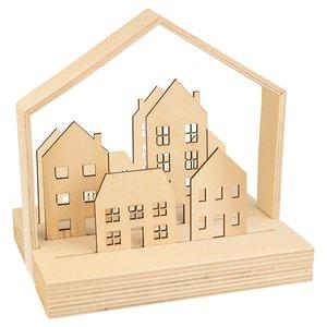 Set escena casitas de madera