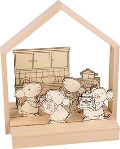 Set escena ratones en la cocina