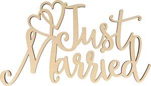 Letrero Just Married col. Nos Casamos de Artemio