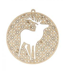 Medallón de madera 20 cm Stag