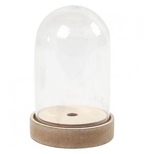 Campana acrílica base de madera 11x18 cm