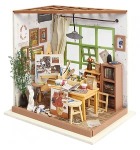 Kit habitación en miniatura Taller de manualidades