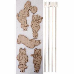 Personajes Los Tres cerditos para Escenario de Marionetas