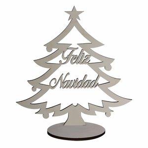 """Árbol de Navidad pequeño de madera """"Feliz Navidad"""""""