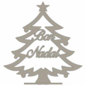 """Árbol de Navidad grande de madera """"Bon Nadal"""""""