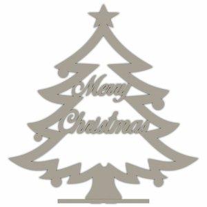 """Árbol de Navidad pequeño de madera """"Merry Christmas"""""""