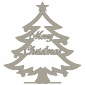 "Árbol de Navidad grande de madera ""Merry Christmas"""