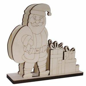 Servilletero de madera Papá Noel