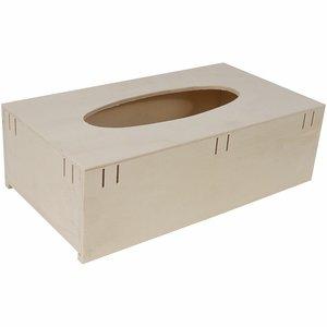 Caja de pañuelos con pasacintas de madera para decorar
