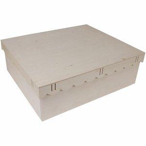 Cajas de madera tapa ondas con pasacintas y dos bandejas
