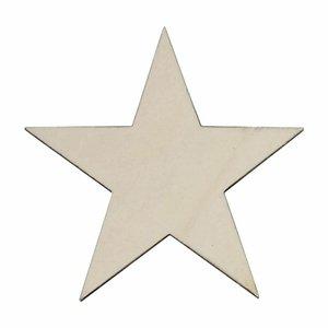 Estrella de madera chopo 20x20 cm