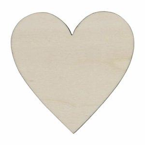 Corazón de madera chopo 11x11 cm