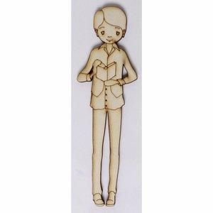 Silueta de chopo Niño Comunión 1 de 17 cm