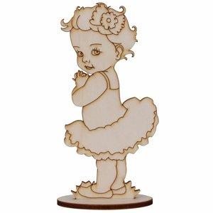 Silueta de chopo Bebé Niña con tutú 22,5 cm