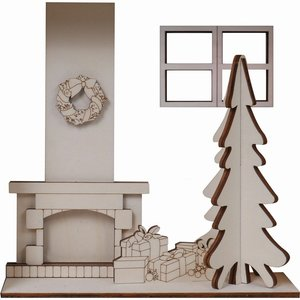 Escena navideña de madera Artis Decor