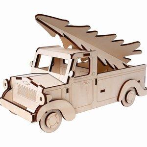 Furgoneta con abeto de madera Artis Decor