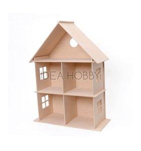 Casa de muñecas de madera 46x20x59 cm