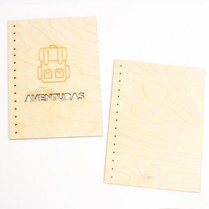 "Portadas madera Kimidori Colors Nuestras aventuras tamaño 6""x8"""