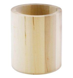 Portalápices de madera redondo