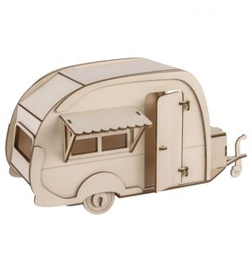Caravana de madera en 3D DIY Rayher