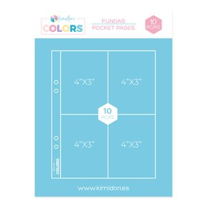 "Fundas para álbumes 6""x8"" Kimidori Colors 4 bolsillos"