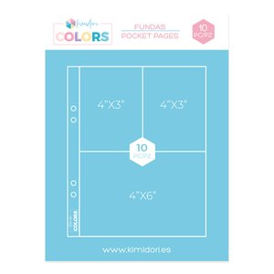 "Fundas para álbumes 6""x8"" Kimidori Colors 3 bolsillos"