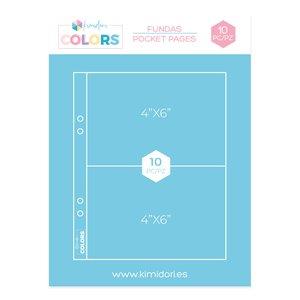 "Fundas para álbumes 6""x8"" Kimidori Colors 2 bolsillos"