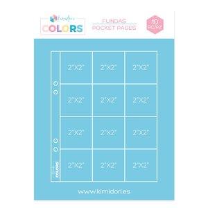 """Fundas para álbumes 6""""x8"""" Kimidori Colors bolsillos de 2""""x2"""""""