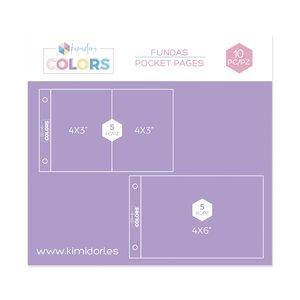"Fundas Kimidori Colors 4""x6"" Pack variado"