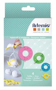 Set 4 maquinillas para hacer pompones Artemio