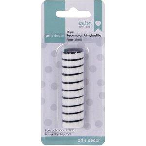 Set de 10 esponjas para mini aplicadores de tinta