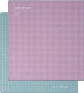 Base de corte autocicatrizante 32x33,5 cm Artis Decor Mint/Rosa