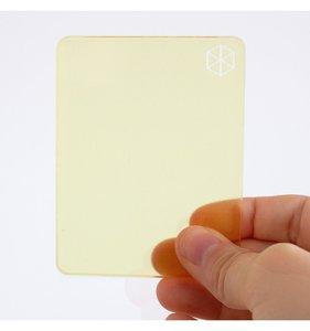 Bloque de metacrilato 9x7x0,5 cm Amarillo