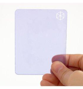 Bloque de metacrilato 9x7x0,5 cm Violeta